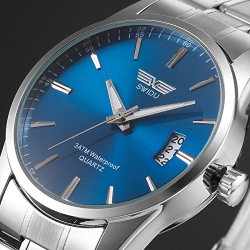 New Men's Watch Stainless Steel Band Date Analog Quartz Sport Wrist Watch Army, Unisex Fashion Lovely And High Quality Sports Watch!, 100% New and high - Nike Glasses Canada