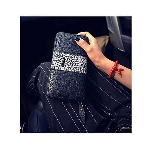 Vin beauty Moda Las mujeres Señora cocodrilo Cuero Embrague Billetera Larga titular de la tarjeta de la PU monedero del #1