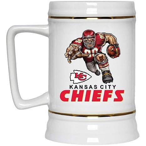 ab11b5ae Amazon.com: Kansas City Chiefs Beer Mug | KC Chiefs Player Mascot ...