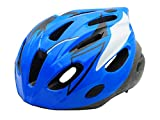 BeBeFun Safety Adjustable Size Kids Helmet for Boy Child Kid Skating Biking Mini Bike Riding Multi-Sports Lovely Helmet 3-7 Years Old Lighting Theme (Blue &White)