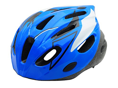 BeBeFun Safety Adjustable Size Kids Helmet for Boy Child Kid Skating Biking Mini Bike Riding Multi-Sports Lovely Helmet 3-7 Years Old Lighting Theme (Blue &White)
