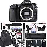 Canon EOS 80D DSLR Camera (Body Only) + Battery Grip & Accessory Bundle