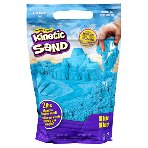 Kinetic Sand The Original Moldable Sensory Play Sand, Blue, 2 Pounds -
