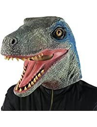 Halloween Mask Costume Party Latex Dinosaur Head Mask Velociraptor