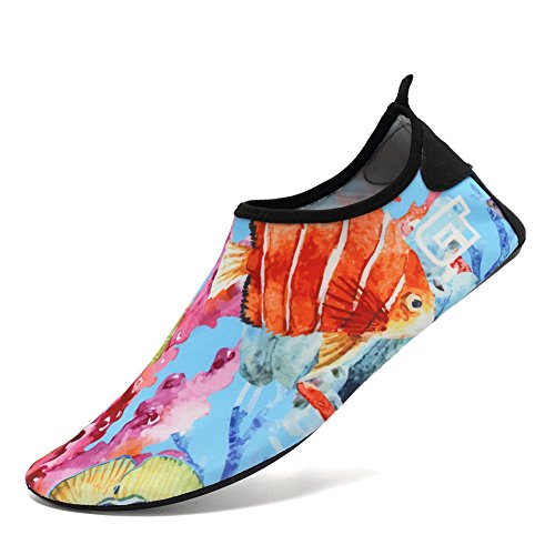 CIOR Männer Frauen und Kinder Barfuß Haut Schuhe Rutschfeste Wasser Schuhe Für Strand Pool Surf Yoga Übung Blume 03