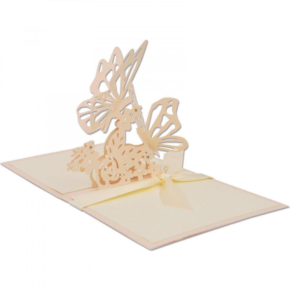 Sizzix 662100 Thinlits Die 23,3 x 12,5 x 0,2 cm Papillons entrelac/és par Samantha Barnett Multicolour M/étal