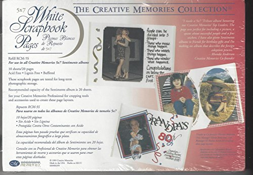 Creative Memories White Scrapbook Pages for 5