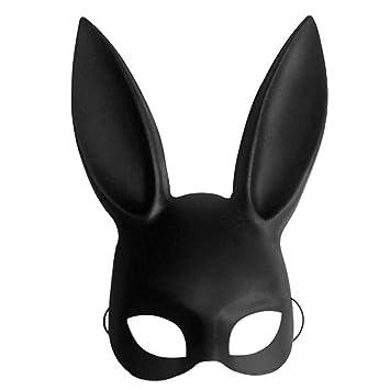 Máscara de conejo de Halloween para disfraz de Halloween, bola de conejo, máscara de