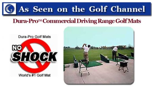 Golf Mat Golf Net Combo 9' x 15' High Velocity Impact Panel Plus a 5' x 5' Octagon Commercial Golf Mat; Free Ball Tray/Balls/Tees/60 Min. Full Swing Training DVD/Impact Decals and Correction Guide With Every Order! Everything You Need In One Package b by Dura-Pro Commercial Golf Mat 9x15 Golf Net Combo (Image #3)