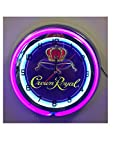 Crown Royal Whiskey Sign - 19 inch Neon Clock