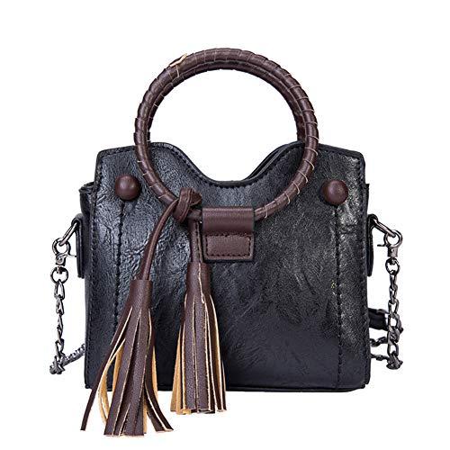 Casual Vintage Borse Ufficio Borsetta Borsa Partito Mano Donna Tracolla Nero Handbag Shopping Moda per Nappa a a 6dfHBnnx