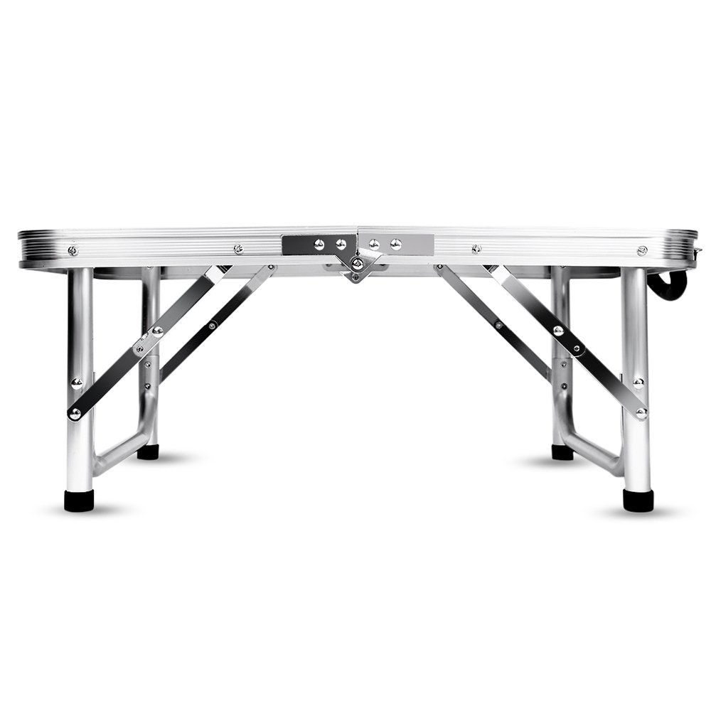 Aluminum Folding Camping Table Laptop Bed Desk Adjustable Height 60 x 40.5 x 24/41.5cm by DOVOK (Image #2)