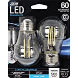 Feit Electric BPA1560/850/LED/2 60W Equivalent Clear A15 Daylight Dimmable LED Light Bulb (2 Pack)