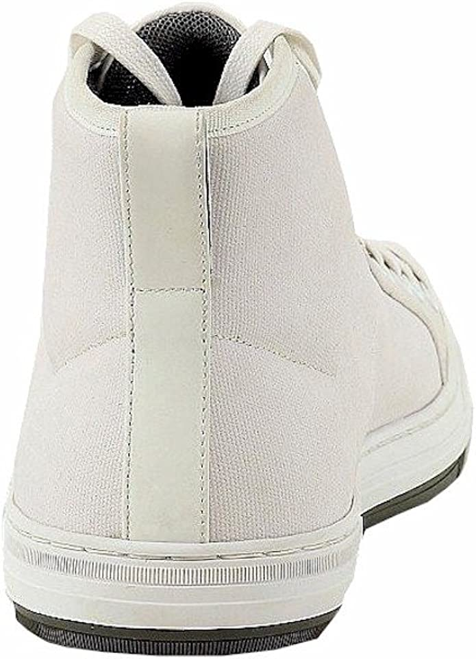 Hugo Boss Mens Dynamo White Canvas//Leather Sneakers Shoes