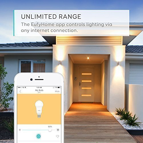 eufy Lumos Smart Bulb by Anker- White, Soft White (2700K), 60W Equivalent, Works with Amazon Alexa & The Google Assistant, No Hub Required, Wi-Fi, Dimmable LED Light Bulb, 9W, A19, E26 (2-Pack) by eufy (Image #3)