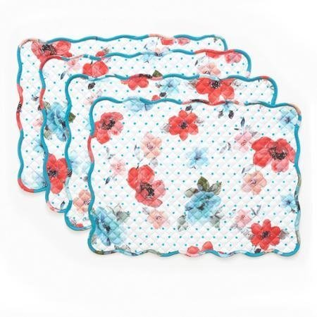 Vintage Bloom Reversible Placemat 4 Pk, 14