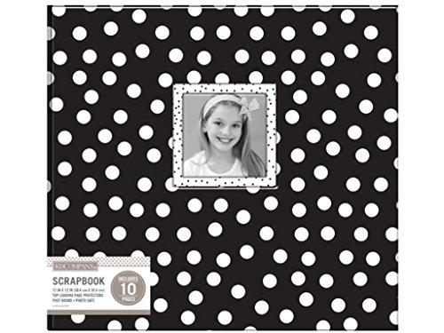 K & Company K&Co Blk/Wht Scrapbook 12x12 Window Dots
