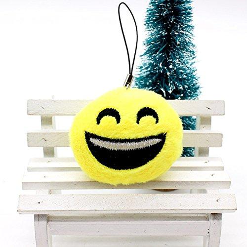 1 Pc Mini Pocket Emoji Smiley Stool Keychain Keyring Keyfob Cute Face Cotton Cartoon Mood Soft Pendant Key Chain Ring Fob Tag Necklace Paramount Popular Wristlet Utility Keychains Tool, - Shop Locator 02