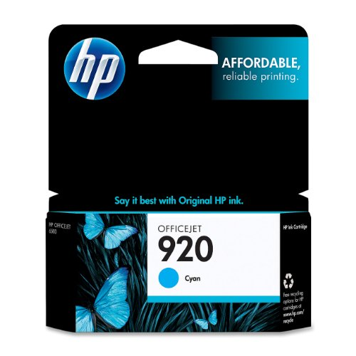 HP 920 Cyan Original Ink Cartridge For HP Officejet 6000, 6500,7000, 7500
