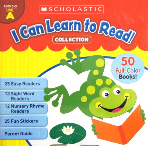 I Can Learn to Read! COLLECTION Box Set [50 Color Books] LEVEL A (Age 3 to 5)