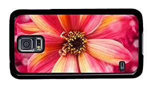 Hipster Samsung Galaxy S5 Cases stylish flower hd PC Black for Samsung S5 by runtopwell