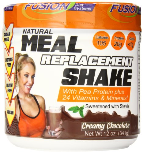 Fusion Diet Systems Pea Protein Natural Meal Replacement Shake, Chocolate, 12 (Meal Replacement Diets)