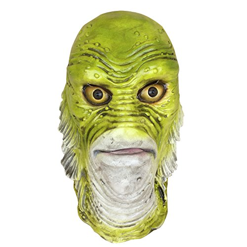 Creature Of The Black Lagoon Costumes (D&C Gadget Men's Universal Monster Creature Halloween Latex Mask From The Black Lagoon)