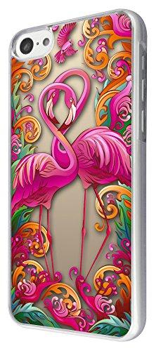 288 - Love Flamingo love heart Design iphone 5C Coque Fashion Trend Case Coque Protection Cover plastique et métal