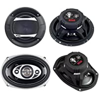 2)New Boss PC65.2C 6.5 500W 2-Way + 2) Boss P694C 6x9 800W 4-Way Car Speakers