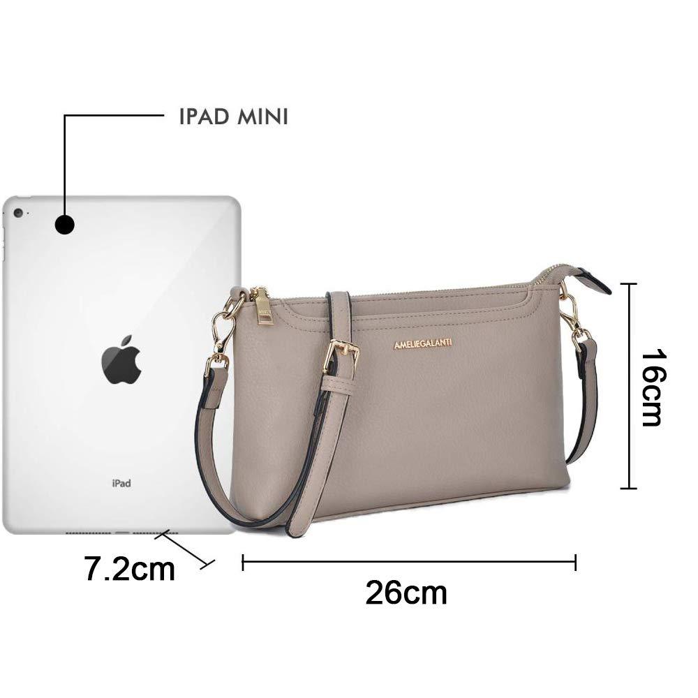 Axelväskor för kvinnor, lätta väskor och handväskor PU-läder liten axelväska axelväska med justerbar rem BEIgE