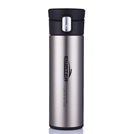 9ceb98acc46 ONEISALL 320 Milliliter Glass Liner Cup,Insulated Coffee Mug,Business Male  Stainless Steel Vacuum Flask,Leak-proof Travel Thermal Flask,Press Drinking  ...