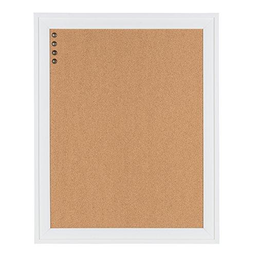 Cork Board Framed White (DesignOvation Bosc Framed Corkboard, 23.5x29.5, White)