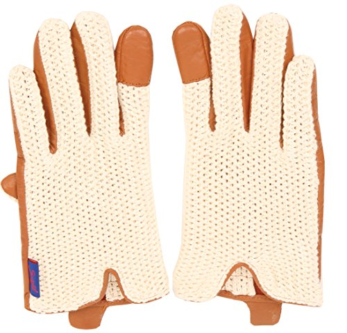 Suixtil Grand Prix Race lamb leather & knitted cotton Driving Gloves, Cognac, M by Suixtil (Image #2)