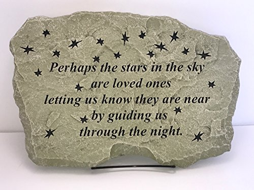 Kay Berry Perhaps the Stars are Loved Ones, 10x15 English Ivy Finish; Comfort Stone Memorial Stone With (English Garden Stone)