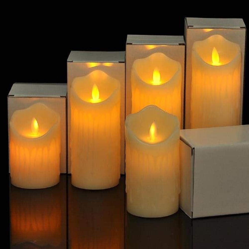 Luz de vela electrónica LED/simulación lágrimas oscilación/luces ...