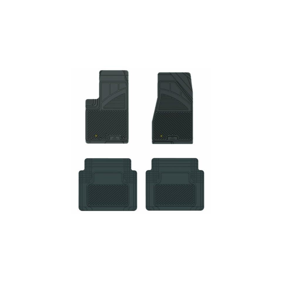 Koolatron Pants Saver Custom Fit 4 Piece All Weather Car Mat for Select Jeep Grand Cherokee Models (Black)