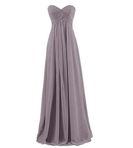 GlorySunshine Strapless Sweetheart Chiffon Bridesmaid Dresses Long Evening Gowns