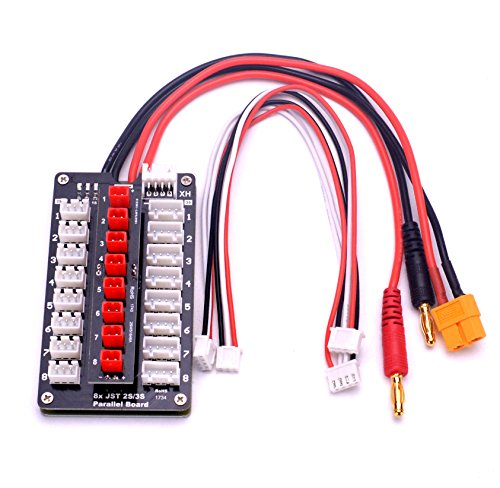 YoungRC JST Parallel Charging Board 2-3S Lipo Battery Balance Charge Board With JST Connectors For RC Drone Helicopter