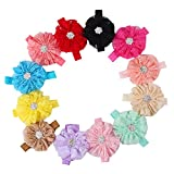 Baby Headband with Lace Flower Elastic Hairband for Toddler Girl Photograph (multicolor)
