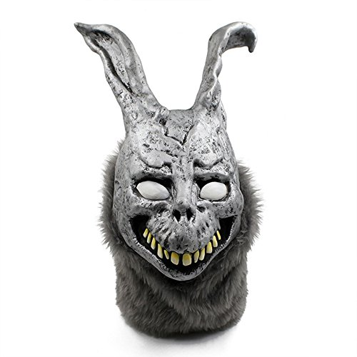 QTMY Latex Rubber Animal Evil Rabbit Mask for Halloween Party Costume