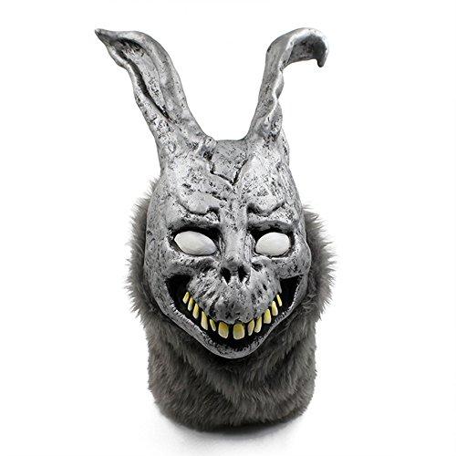 QTMY Latex Rubber Animal Evil Rabbit Mask for Halloween Party Costume (Evil Rabbit)