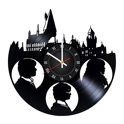 (WhatsUp Store Harry Potter Friends Vinyl Record Wall Clock - Wonderful Bedroom or Bathroom Wall Art Decoration - Fancy Gift idea for his or)