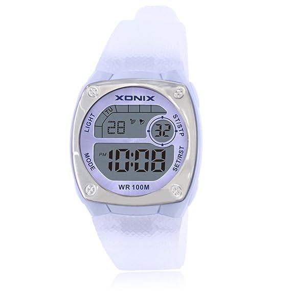 Niña Reloj led,100m resistente al agua Relojes digitales Luminoso Con reloj de alarma 24