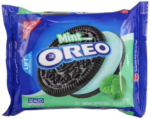 Oreo Mint Creme Chocolate Sandwich Cookies, 15.25 Ounce by Oreo