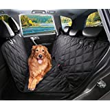 Dog Car Seat Cover, Pet Backseat Covers for Cars, Trucks, and Suv's - Waterproof & Nonslip Hammock Convertible Dogs Seats Blanket (X-Large)