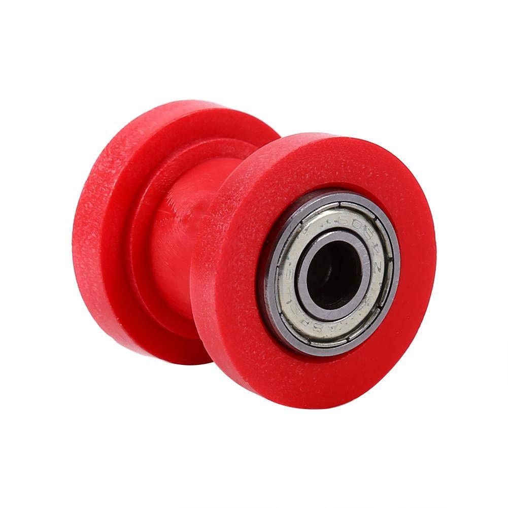 8 mm ID cadena de rodillos gu/ía gu/ía tensor rueda rueda Dirtbike chino Pit Bike polea rodillo tensor cadena para mini moto Moto ATV Red