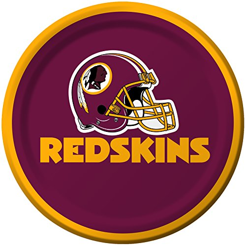 Creative Converting 8 Count Washington Redskins Paper Dessert Plates