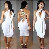 Dress,BeautyVan Sexy Women's Full Bodycon Sleeveless Dress (S, White) offers