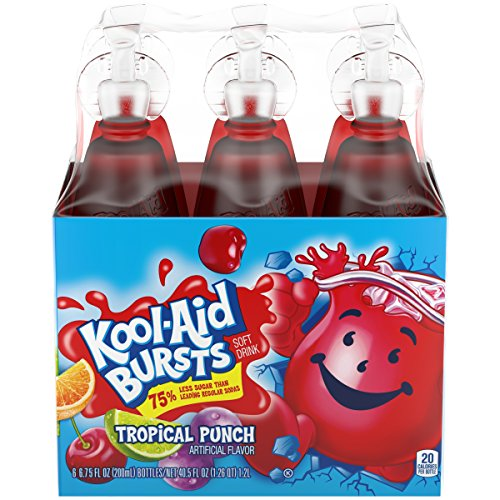 Kool-Aid Bursts Ready-to-Drink Tropical Punch Juice, 6 Count