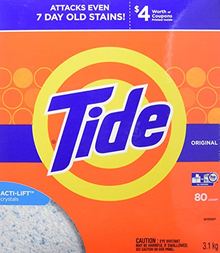 Tide HE Turbo Powder Laundry Detergent with Acti-Life, Original Scent, 3.1 kg (80 Loads)